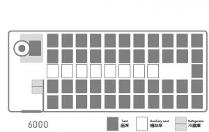 座席表:いすゞJバス6000