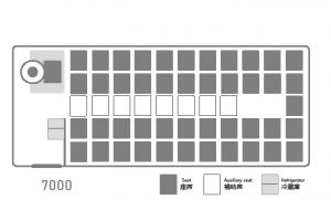 座席表:いすゞJバス7000