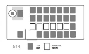 座席表:マイクロバス 514