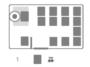 座席表:ハイエース 1