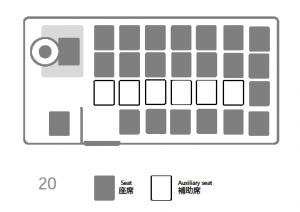 座席表:三菱ローザ 20